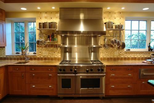 is the stainless steel backsplash shelf custom made thanks. Black Bedroom Furniture Sets. Home Design Ideas
