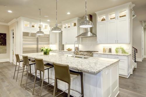 Kitchen island with granite countertop design