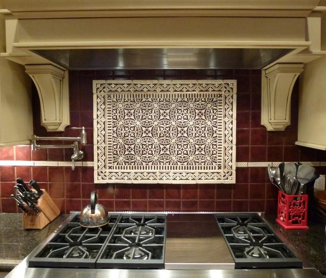 kitchen range backsplash traditional kitchen
