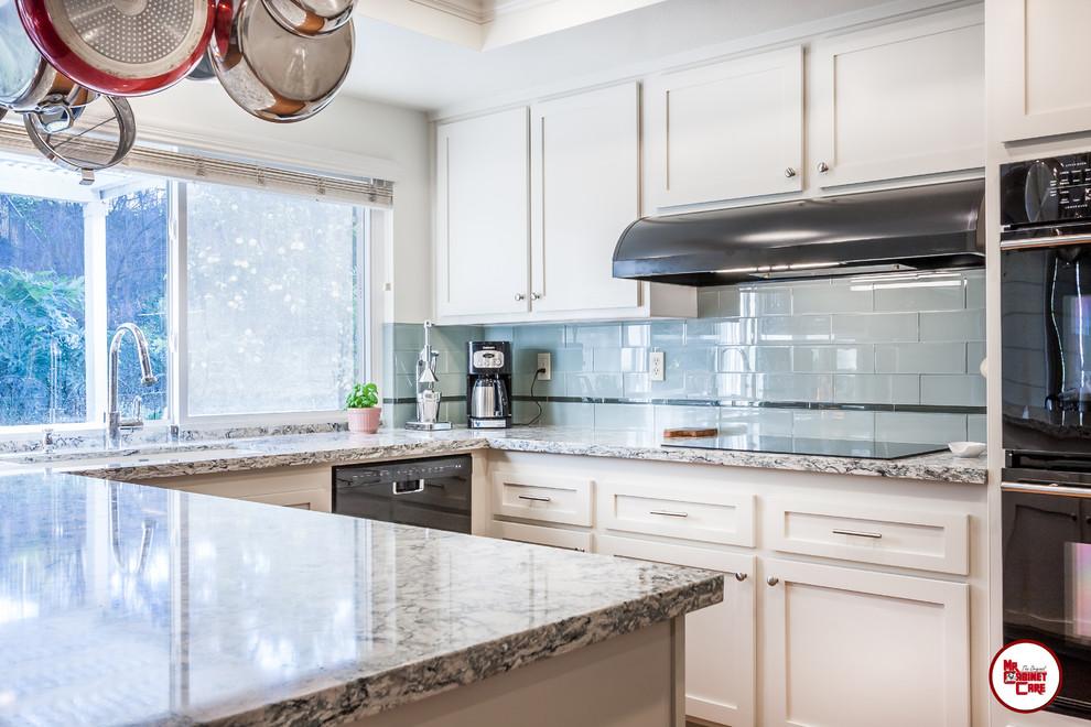 Kitchen Reface Anaheim - Transitional - Kitchen - Orange ...