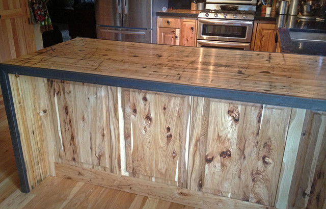 Kitchen Reface Hickory Boxcar Countertops Rustic
