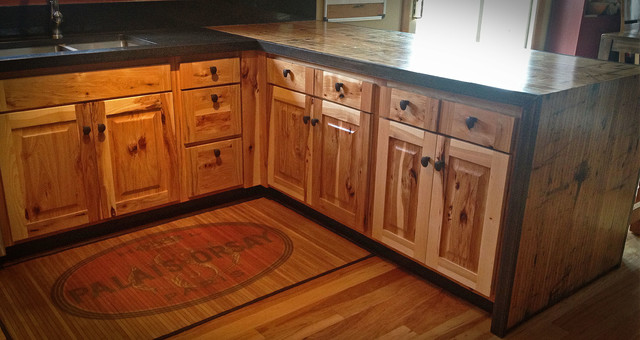 Kitchen reface Hickory/boxcar countertops