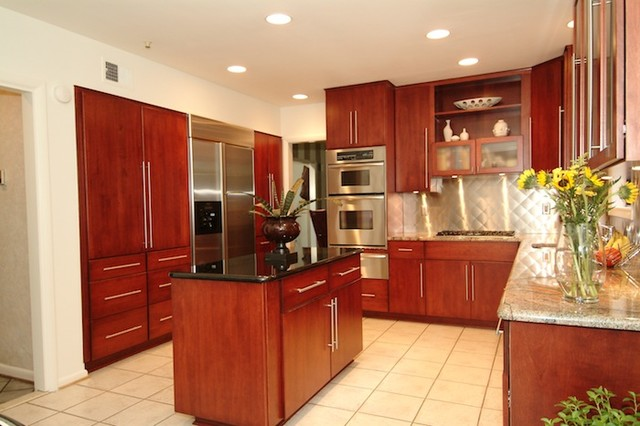 Kitchen Reface - Contemporary - Kitchen - dc metro - by Kitchen Magic Refacers, inc