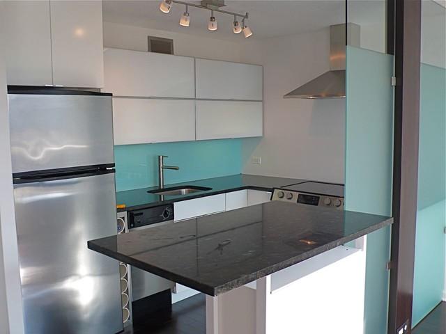 Kitchen Rehab in SMALL Studio Condo - Contemporary - Kitchen ...