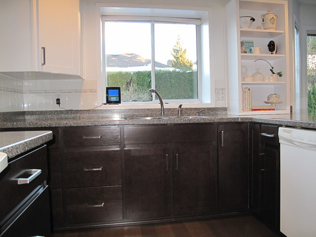 Kitchen Remodel Done In Both Cherry Veneer And Stain White Veneer Contemporary Kitchen