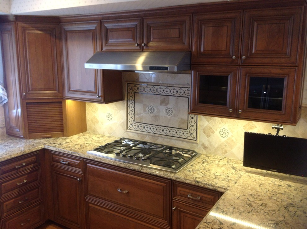 Kitchen Remodel Done in Natural Cherry - Traditional ...
