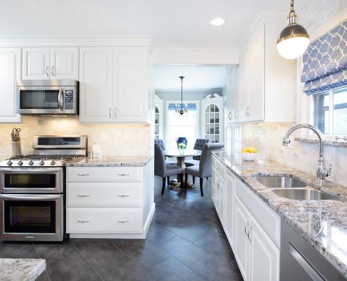 Blue Flower Granite Kitchen Countertop Ideas