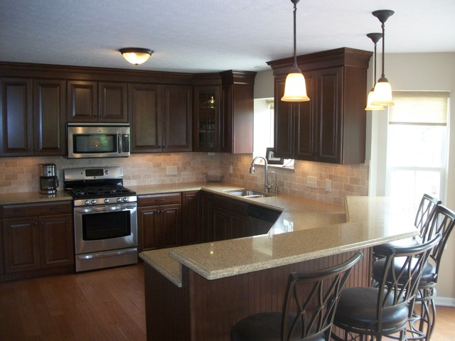 Kitchen Remodel Medina Oh 6 Traditional Cleveland This Was Renovated Using Waypoint Cherry Cabinets With Toasted Almond
