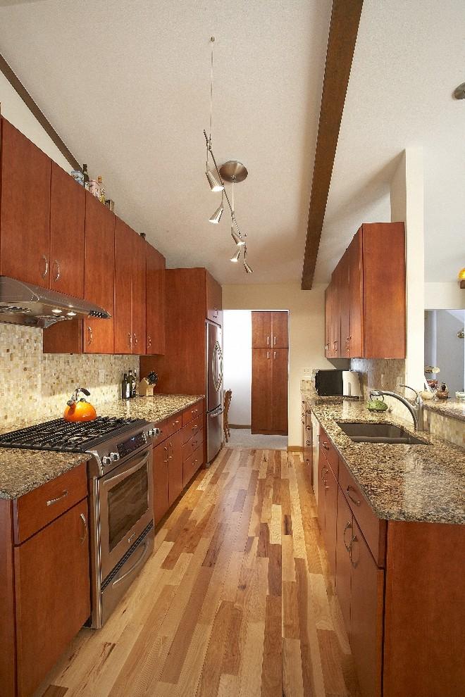Kitchen - contemporary kitchen idea in Denver
