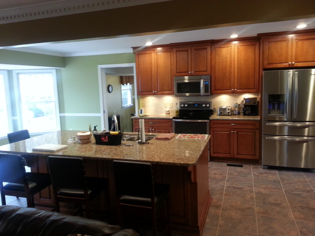 Kitchen Remodel Open Floor Plan Traditional Kitchen Nashville By Southern Breeze Home