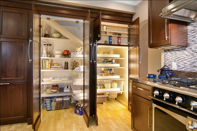 Kitchen Remodel (Recessed - Built In Pantry) - Traditional - Kitchen ...