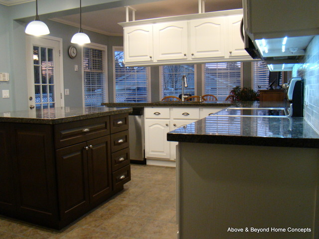amazing 90S Kitchen Remodel #7: Kitchen Remodel / Renovation - Early 90u0027s Kitchen Gets a New Look  transitional-kitchen