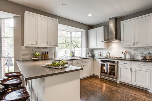 What is the width between the stove and peninsula counter Modern kitchen design ideas houzz