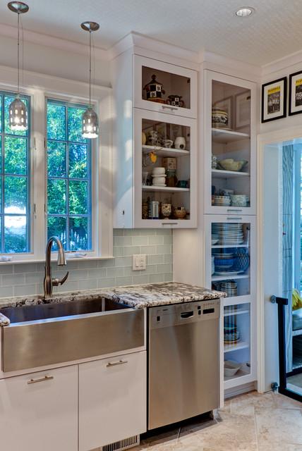 Kitchen Remodel:  White & Bright traditional-kitchen