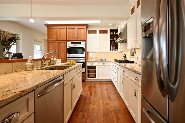 Kitchen Remodel White & Cherry Cabinets - Traditional - Kitchen ...