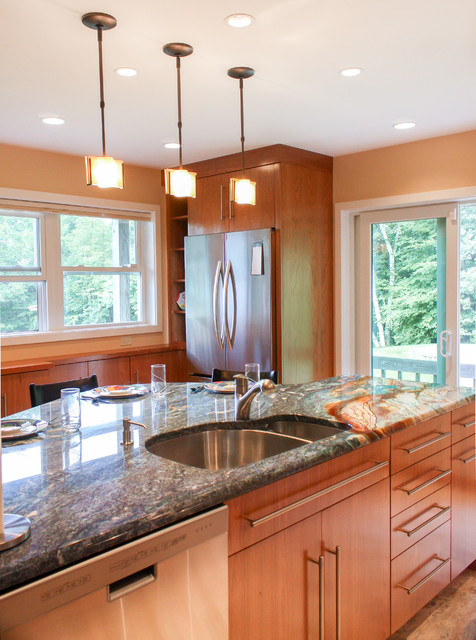 Kitchen remodel wilton nh transitional kitchen for Bath remodel nh