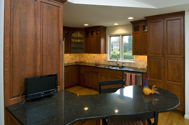 Kitchen Remodel with Attached Deck and Staircase traditional-kitchen