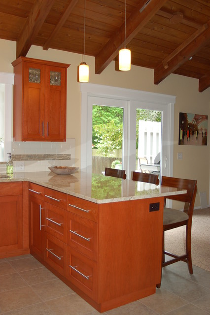 Kitchen Remodel With Custom Cabinets Contemporary Kitchen Other Metro