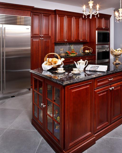 Kitchen Remodel with Decorative Backsplash Mural traditional-kitchen