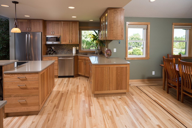 Kitchen remodel with dining room addition transitional for Kitchen dining room remodel ideas