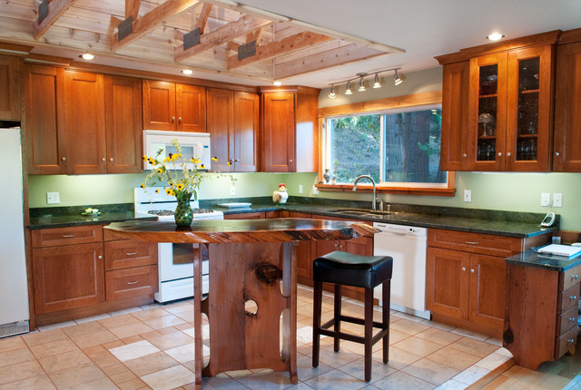 Kitchen Remodel With Exposed Trusses