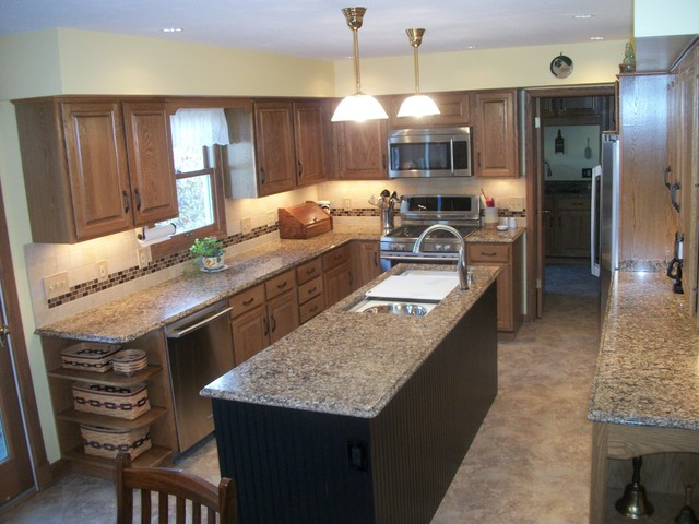 Kitchen Remodel with Galley Sink Wellington OH contemporary-kitchen
