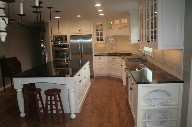 Kitchen remodel with inset door style traditional-kitchen
