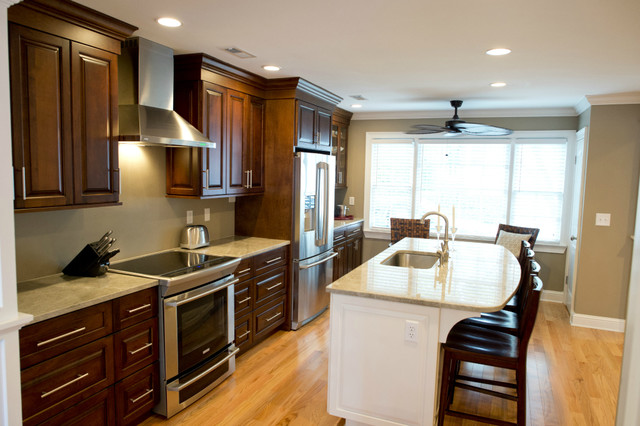 Kitchen remodel with island contemporary kitchen for Kitchen remodeling charleston sc