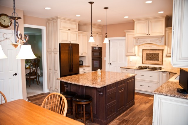 Kitchen Remodel with Oil-Rubbed Bronze Appliances - Transitional ...