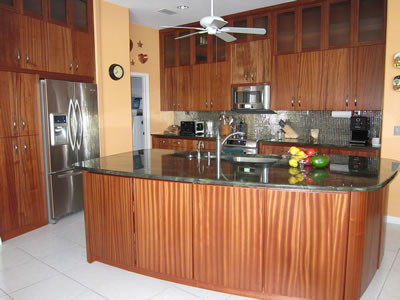 Kitchen Remodel With Sapele Wood Cabinets Contemporary