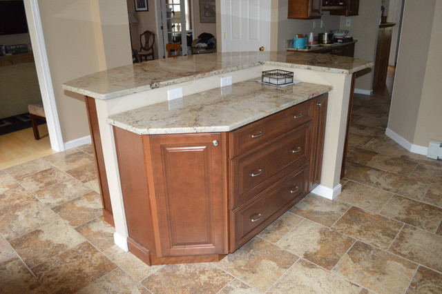 two tier kitchen island kitchen remodel with two tier island traditional 6432
