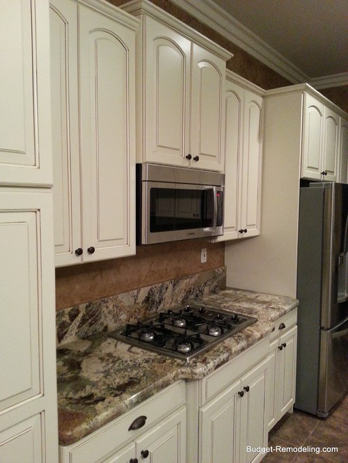 Need Help Choosing Granite For Cream Colored Glazed Cabinets