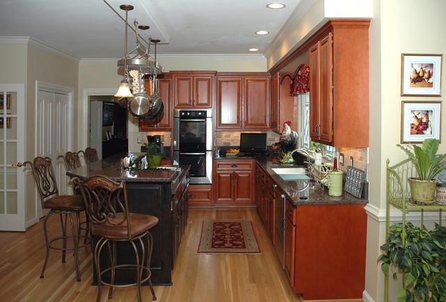 With Cabinet Refacing Traditional Kitchen Richmond By Kitchen