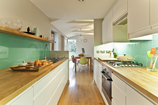 kitchen remodelling in south bristol - midcentury - kitchen
