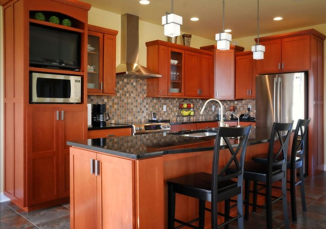 Kitchen Remodels done with Cabinet Refacing - Modern - Kitchen - orlando - by Kitchen Solvers of ...