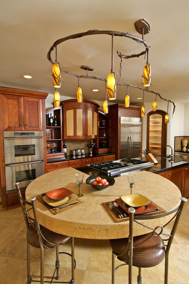 Example of a trendy kitchen design in San Diego