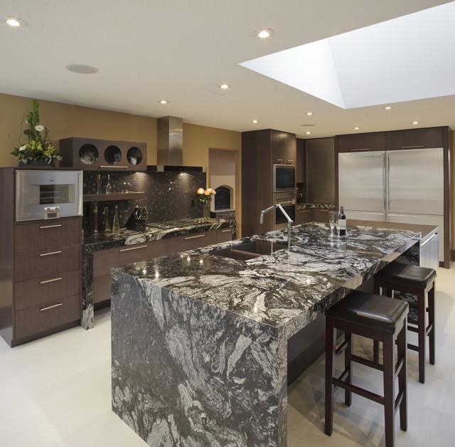 Modern Kitchen Design Calgary: Kitchen Reno Calgary Mitred Gables