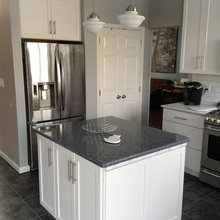 Kitchen Renovation - After - Island  Fridge  Pantry