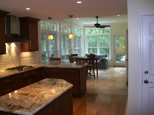 kitchen renovation and sunroom addition traditional kitchen boston by clarke associates llc. Black Bedroom Furniture Sets. Home Design Ideas