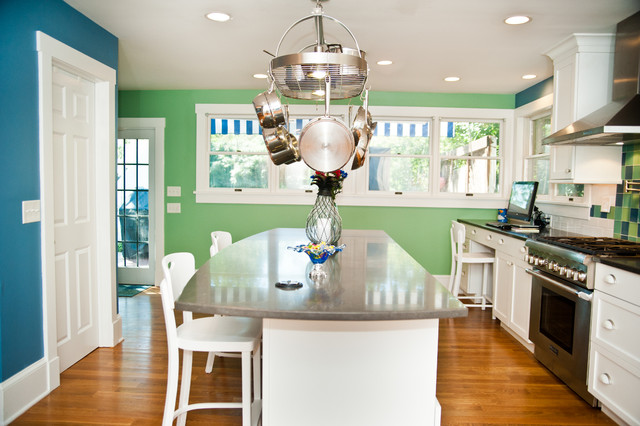Kitchen Renovation for a Shore Colonial transitional-kitchen