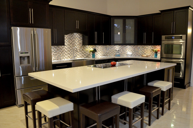 Kitchen renovation miramar fl modern kitchen for Modern kitchen cupboards
