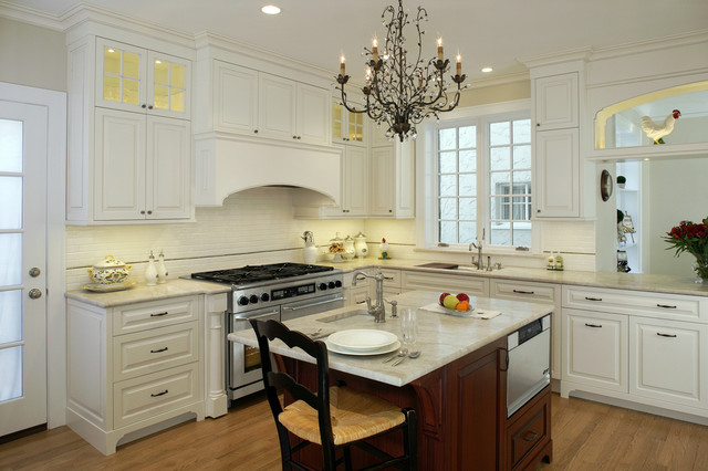 White Kitchen Renovation kitchen renovation -white custom cabinetry - traditional - kitchen