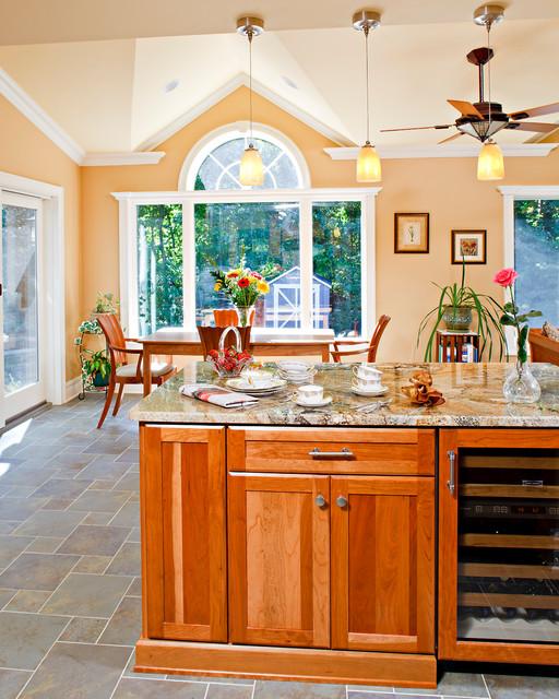 Large Kitchen Window: Kitchen Renovation With Large Windows And Sliding Patio