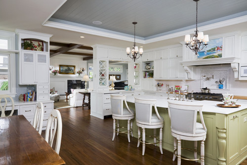 mini chandeliers above kitchen island, Lighting ideas