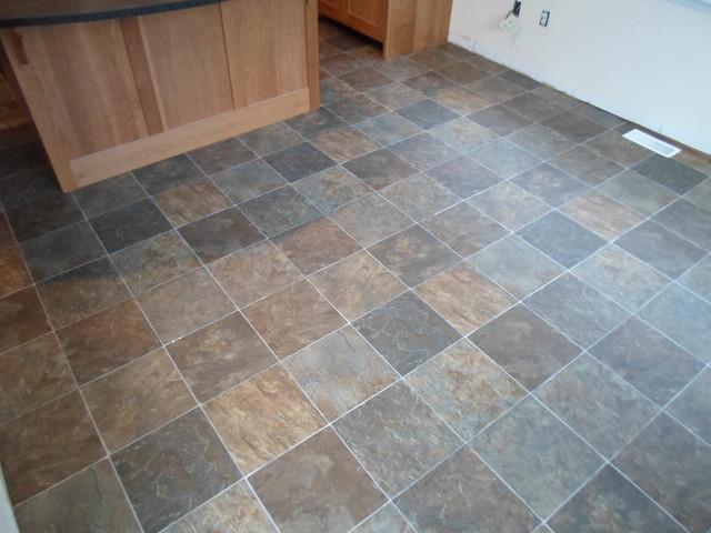 Kitchen Sheet Vinyl Tile Look Tarkett Traditional