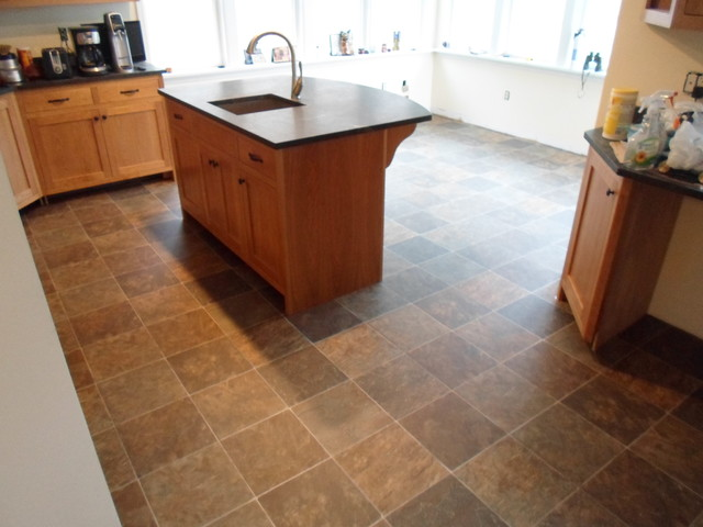 Kitchen Sheet Vinyl Tile Look Tarkett Traditional