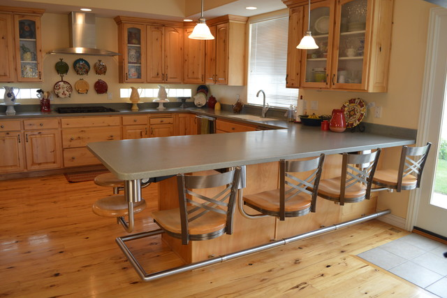 Kitchen Snack Bar Seating Metal With Wood Seats