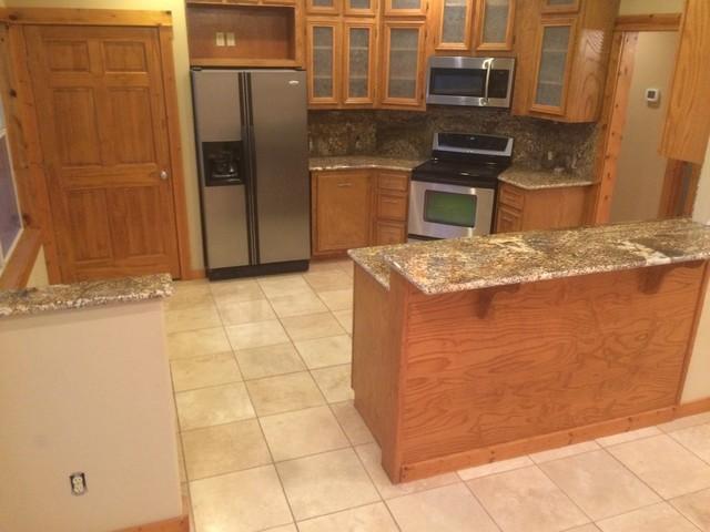 Kitchen   Star Beach Granite Rustic Kitchen