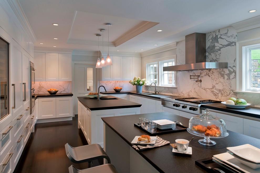 2018美式厨房装修图 2018美式橱柜装修效果图片