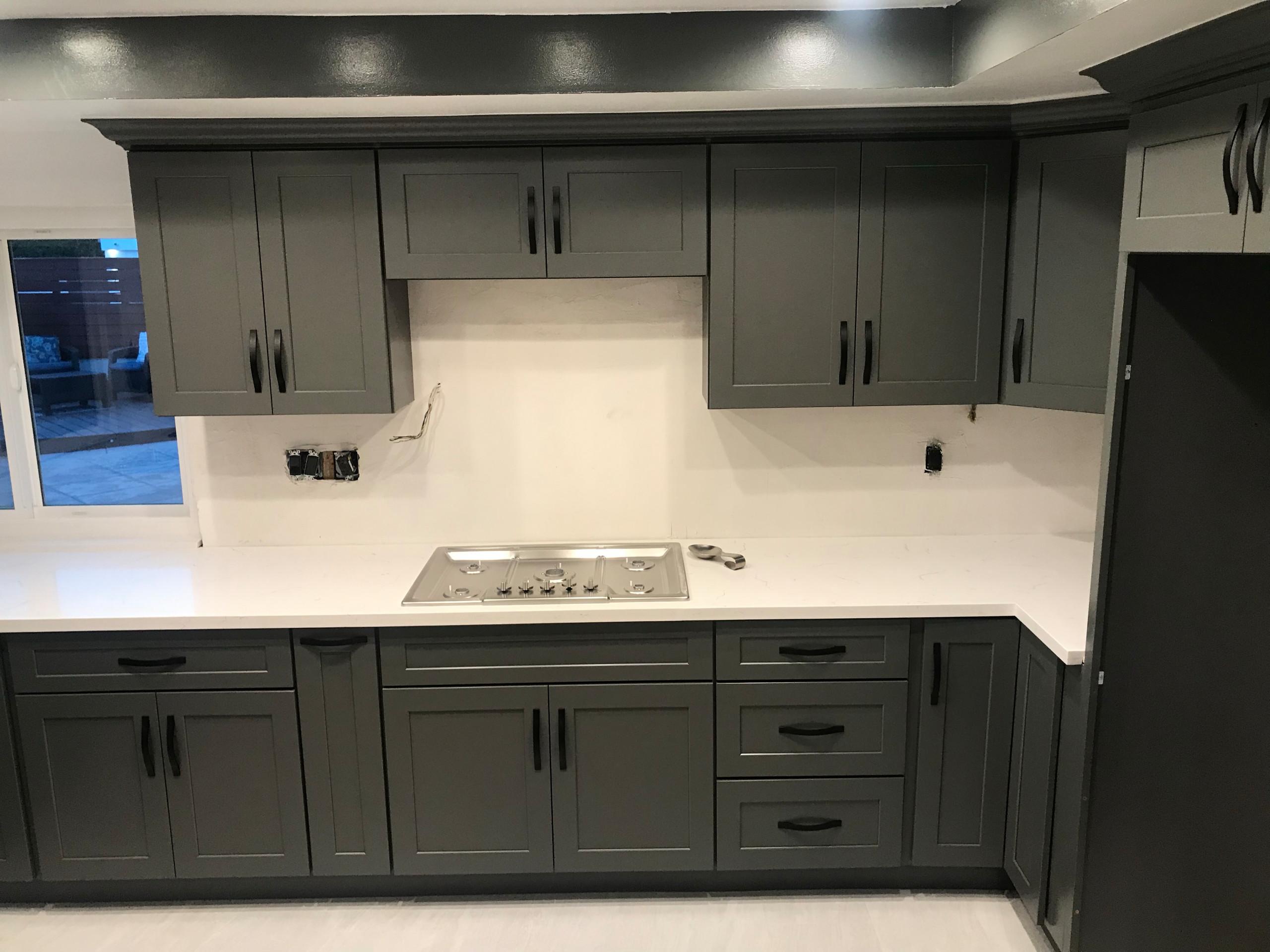 Kitchen stove top area